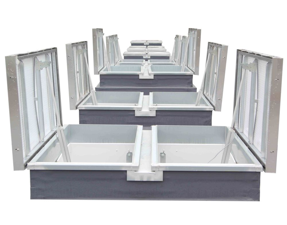 Thermadome Double Leaf Multiwall Glazing open cutout